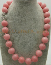 "12mm Exquisite Pink Rhodochrosite Round Gemstone Beads Necklace 18"" AAA"