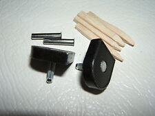 "2x 5/8"" 16mm 115pin BLACK METAL STILETTO HIGH HEEL SHOE TOPS TIPS TUBES KIT PAIR"