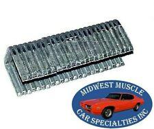 50-70 Ford Lincoln Mercury Fender Skirt Apron Dust Splash Shield Staples 24pc CD