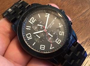 Michael Kors Mercer Chronograph Black Dial Men's Watch MK8350 New Battery