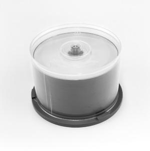 50er Pack Rohlinge CD-R 700 MB 80 Minuten bedruckbar teilmetallisiert in Cakebox