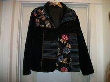 FESTIVAL BOHO HIPPIE BEADS & PATCHWORK SEMI CHENILLE LIKE JACKET LG