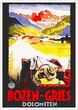 Vintage art deco poster voyage italienne de Bozen Gries sud Tirol Dolomites années 1930