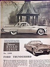 FORD THUNDERBIRD  - 1956 - Road Test from The Autocar + Driving Impressions