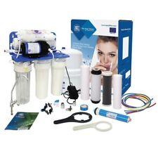 Aquafilter 6 etapas Sistema de Osmosis inversa con bomba 75GPD para agua potable