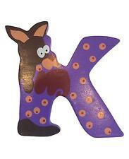 Holzbuchstabe K - Buchstabe Kinder Kinderzimmer Tier Tiermotiv Holz DEKO bunt