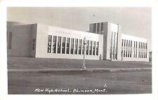 A41 Chinook Montana Mt Real Photo RPPC Postcard New High School 1948