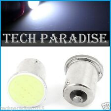 100x Ampoule LED COB 12 Chip Bulb Blanc White feu stop P21W / BA15S / 1156 / R5W