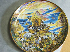 Two by Two Noah's Ark Collector's Plate Bill Bell Franklin Mint #L2381 1991 Gold