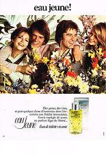 PUBLICITE ADVERTISING  1973   EAU JEUNE   eau de toilette parfums