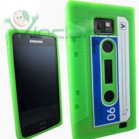Custodia silicone VERDE per Samsung Galaxy S2 i9100 e S2 Plus Cassetta morbida