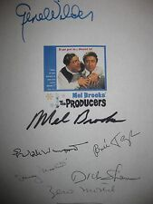 The Producers signed Film Script X7 Gene Wilder Mel Brooks Zero Mostel Taylor RP
