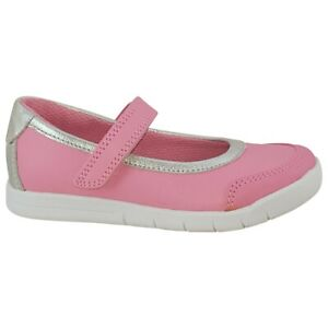 BNIB Clarks Girls Emery Halo Pink/Silver Leather Shoes