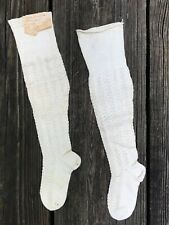 Antique Victorian 1900's Hand knitted girls stockings