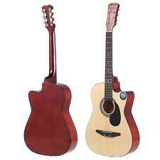 """Standard 38"""" 6-String 18-Fret Folk Acoustic Guitar for School Band Concert M3J6"""