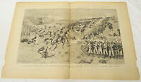 two page 1884 engraving ~ REBELLION IN SOUDAN Second Battle of Teb: Gen Grah