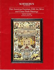 Sotheby's American Furniture Folk Art China Trade Paintings NY June 23 1988
