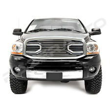 06-08 Dodge RAM Big Horn Chrome Front Hood Packaged Grille+Replacement Shell