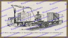 Reichsbahn Lkw Mercedes-Benz Container Kran Großladeschwinge Güter Spedition ´35
