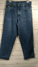 Pelle Pelle By Mark Buchanan Men's Loose Fit Urban Hip Hop Jeans Medium Wash 36X