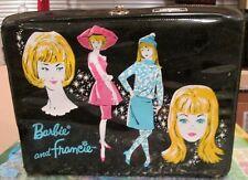 1965 Thermos Rare Set~Barbie+Francie Lunchbox~Barbie-Midge+Ski pper Metal Thermos