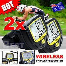 2X Wireless Bicycle Speedometer Cycle Bike Computer Odometer Meter Waterproof AU