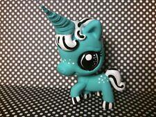 Unicorn Horse Pony Aquarius * OOAK Hand Painted Custom Littlest Pet Shop Repaint