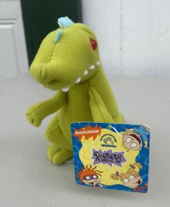 "NEW 1997 APPLAUSE 8"" Plush REPTAR BEAN BAG Dinosaur RUGRATS Stuffed Animal Toy"
