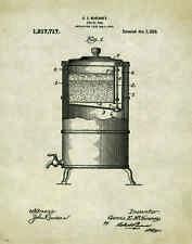 Coffee Shop Patent Poster Art Print Beans Maker Grinder Roaster Donuts PAT349
