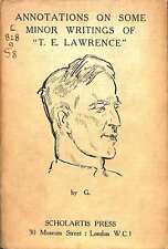 Annotations On Some Minor Writings Of ''T.E. Lawrence''., Te. G. Lawrence, Good