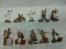 1 pastore terracotta 8 cm porta cesto costumi storici,presepe shepherd crib