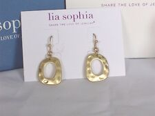 Beautiful Lia Sophia Gold DEWY Earrings, NWT
