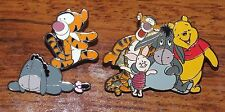 *Set of 2* Disney Winnie the Pooh Group & Baby Tigger / Eeyore Collectible Pins