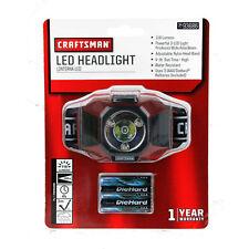 NEW Craftsman LED Headlight 93686 With 3pc AAA Battery Flashlight Headlamp