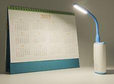 Portable LED Light Bendable Mini Lamp USB PORT Backlit e-reader Booklight BLUE