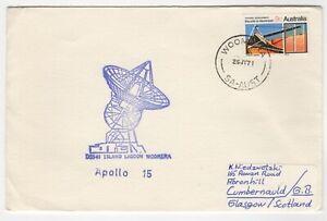 1971 Jul 26th. Apollo 15 Cover. Island Lagoon Tracking Station, Woomera.
