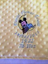 personalised dimple fleece baby blanket Baby Mickey Mouse