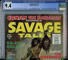 Savage Tales #1 CGC 9.4 NM Conan Magazine Marvel Comic 1st Manthing