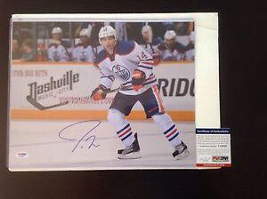 Jordan Eberle Signed 11x14 Photo Edmonton Oilers PSA DNA COA Autographed a