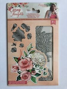 Crafters Companion Sara Signature Caring Thoughts - Floral decoupage die set 1