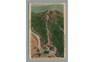 Vintage 1938 Linen PC: Whiteface Mountain Memorial HWY Summit House & Castle NY