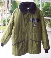 REFRIGIWEAR Heavy Duty Jacket Mens M FLEECE LINED HOOD Iron Tuff Cold Work Gear