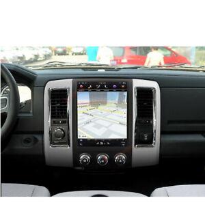 Car GPS Radio Carplay Android 9.0 Tesla screen 12.1'' FOR DODGE RAM 2009-2018