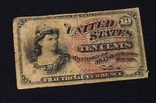 1863 10 Cents Fractional Currency 4th Issue (T-864)