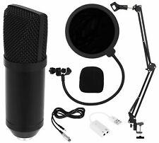 Kondensator-Mikrofon Kit mit USB Kabel Microphone für Computer mit Popschutz und