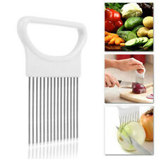 Tomato Onion Vegetable Slicer Cutting Aid Holder Guide Slicing Cutters Safe Fork