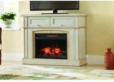 Infrared Electric Fireplace Freestanding 42 in. Mantel Console Antique White