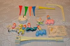 Vintage Baby Crib Carousel Mobile Turns ~ Music ~ 1968 Stahlwood toys animals