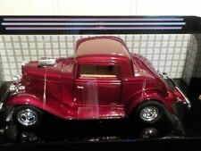 Welly 1/24 , Ford Coupe 1932 - Red Metallic. Metal Model Car