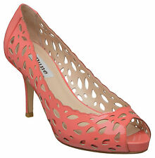 Dune CANADA D Laser Cut Peep Toe Court Shoe- Coral UK6 EU39 JS07 38